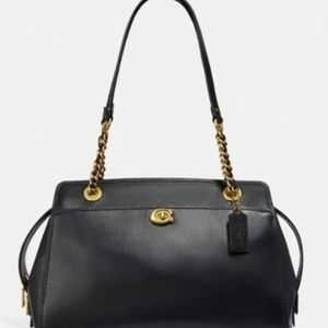 Carry All Parker 35575 Black Leather Tote